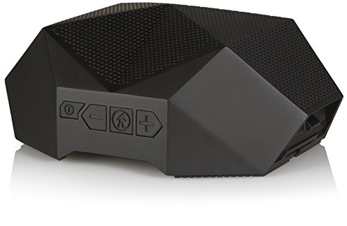 Bluetooth Speaker - Outdoor Tech Turtle Shell 3.0 - Black - Rugged Waterproof Speaker - Portable Hi-Fi Speaker - Shockproof - Dustproof Outdoor Speaker (Renewed)