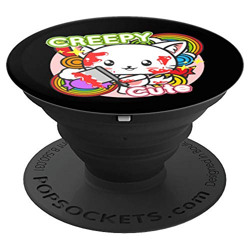 Creepy Cute Cat Kitten Anime Halloween Costume Gift PopSockets Grip and Stand for Phones and Tablets]()