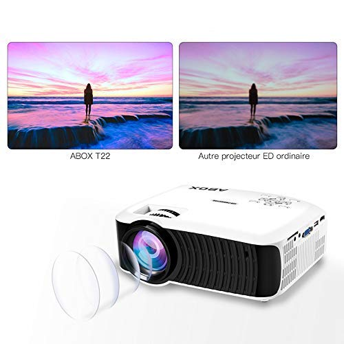 Abox 2400 lumenes Proyector portátil LED LCD proyector HD 1080P ...