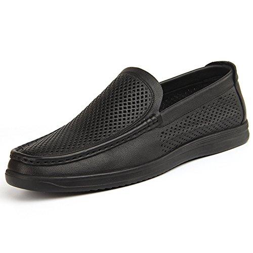 Hommes Cuir Mocassins Pois Chaussures Mocassins & Slip-Ons Chaussures Mocassins Occasionnels Chaussures de Conduite Noir Black