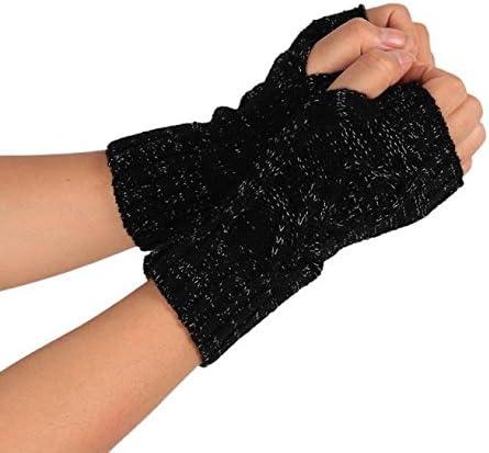 1 Pair Women Men Soft Half Finger Gloves Winter Warm Knitted Mittens Fingerless
