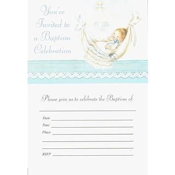 Amazon.com: Invitaciones de bautizo – Boy: Health & Personal ...
