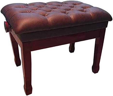 キーボード椅子 子供のピアノレッスンピアノ・キーボードスツール人間工学に基づいた椅子肥厚ピアノ椅子防水調節可能な楽器スツール ピアノスツール (色 : 褐色, Size : 60x40x58cm)