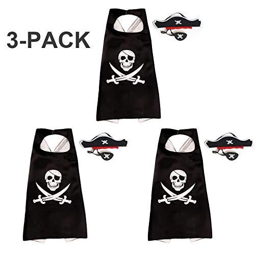 RioRand Cartoon Pirate Dress Up Satin Cape