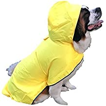 The Rain Rover Dog Raincoat by Huge Hounds for Big Large XL Dogs - Waterproof Dog Raincoat