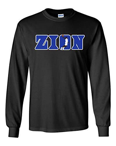(Long Sleeve Black Duke Zion Zion Logo t-Shirt Adult )