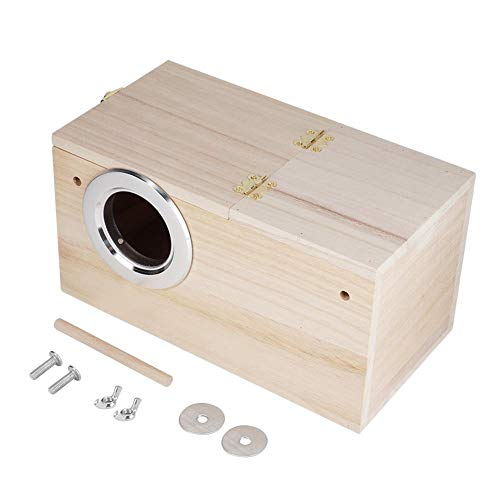 Quality Wooden Pet Bird Nests House Breeding Box Cage Accessories for Parrots(Right Opening)