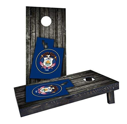 素晴らしい品質 Custom State Cornhole Boards CCB1581-AW-RH Wood Slate CCB1581-AW-RH State Flag & Slate Map (Utah) Cornhole Boards [並行輸入品] B07HLJ6F22, クリーニングプロミツミネ:aff61ec1 --- arianechie.dominiotemporario.com
