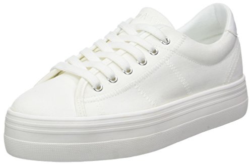 Plato Blanc Canvas White White Baskets No Name Sneaker 01 Fox Femme Hw6TZFZx