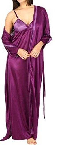b19cdf8404 Famacart Women's Backless Satin Night Dresses & Nighties Robe Nighty ...