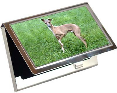 Italalian Greyhound Business Card / Credit Card Case