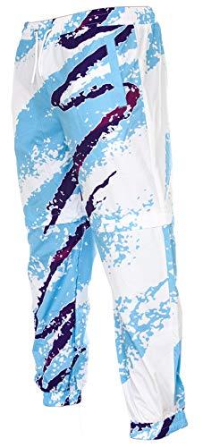 Funny Guy Mugs Jazzed 80s & 90s Retro Neon Windbreaker Pants, 2X-Large ()