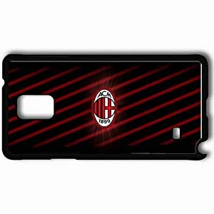 Personalized Samsung Note 4 Cell phone Case/Cover Skin Ac milan by kriollo Black