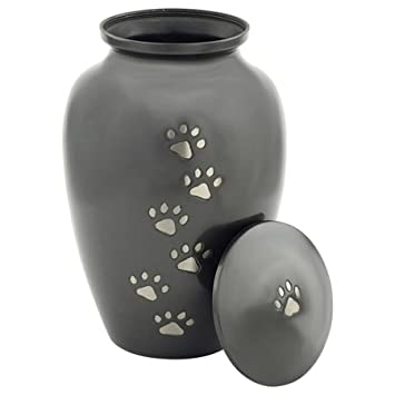 Silverlight Urns Classic Slate Pet Cremation Urn Extra Large, Cremation Urn for Dog Ashes, 9 Inches High Brass for Pet Up to 115 Pounds