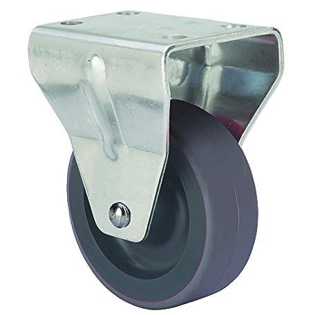 Alex Z PGI - Rueda fija (goma inyectada, diámetro de 40 mm, carga soportada 25 kg) color gris: Amazon.es: Bricolaje y herramientas