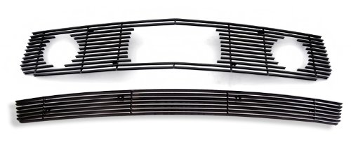 Fits 2005-2009 Ford Mustang V6 Pony Package Black Billet Grille Grill Combo # F61219H (2008 Mustang Pony Emblem compare prices)