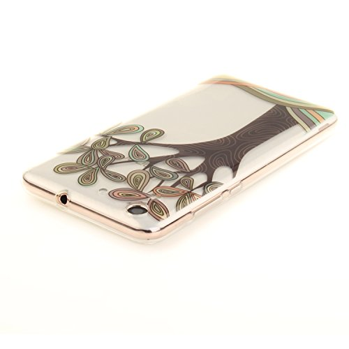 Qiaogle Teléfono Caso - Funda de TPU silicona Carcasa Case Cover para Samsung Galaxy Core 2 SM-G355H (4.5 Pulgadas) - TX74 / Dress design draft TX78 / Ink painting tree