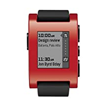 Pebble Smartwatch for iPhone and Android (Red)