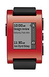 Pebble Smart Watch For Iphone & Android Devices (Red)