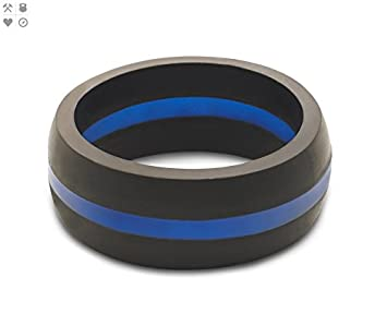 QALO Silicone Rings For Men Safe Wedding Band Yoga Crossfit Rubber Ring