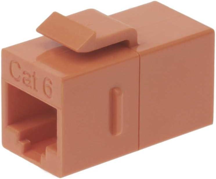 InstallerParts Cat 5E Inline Coupler w//Keystone Latch Orange
