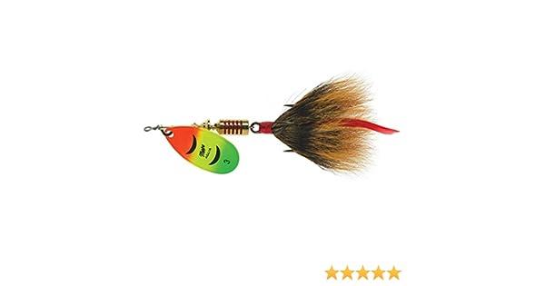 - Hot Firetiger /& Hot Orange Chartreuse Mepps  Aglia Spinner 1//6 oz 2