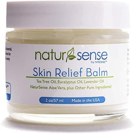 NaturSense Skin Relief Balm - Tea Tree Oil Skin Ointment – Antifungal Help for Eczema, Athlete's Foot, Dry Itchy Skin, Psoriasis, Toenail Fungus, Jock Itch, Ringworm, and Foot Odor!