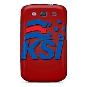 TAn2881AvGZ Case Cover, Fashionable Galaxy S3 Case - Iceland Football Logo