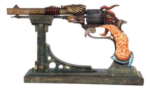 "Pacific Trading Steampunk Colonel Fizziwigs Captain Nemos 15.5"" Pistol & Stand Set 3"