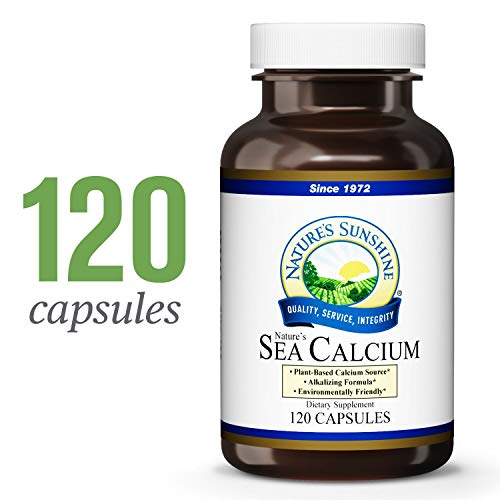 Nature's Sunshine Sea Calcium, 120 Capsules   Promotes Bone and Teeth Health, Offsets Body Acidity, and Helps Maintain PH Levels