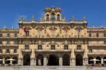 Plaza mayor de Salamanca (Salamanca de división Square) de España (71124418), lona, 60 x 40 cm: Amazon.es: Hogar