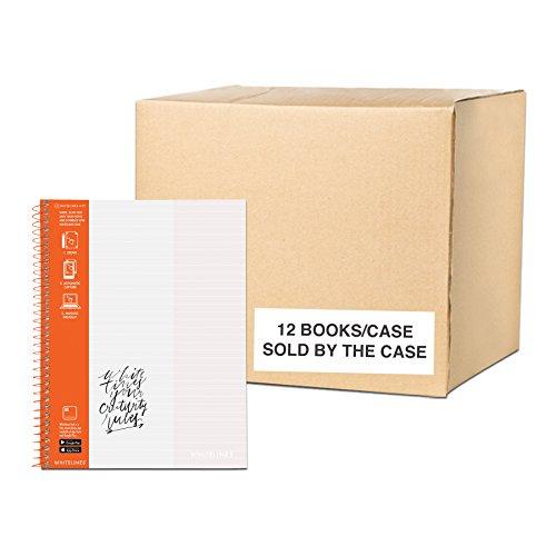 (Case of 12 Whitelines App Notebooks, Grey Lined White Paper, 11