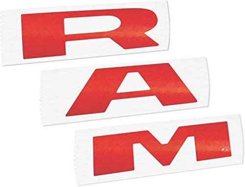 3-Pack RAM Truck and Hemi Powered Logo Stickers Indoor Outdoor Licensed and Authentic