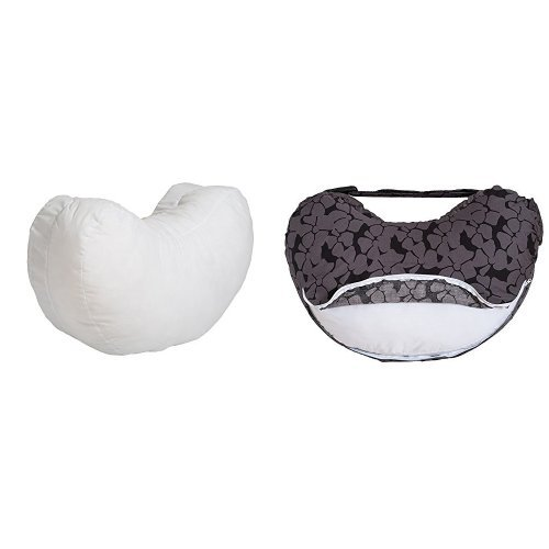 Bebe au Lait Simple Nursing Pillow and Organic Cotton Slipcover Set, Midnight
