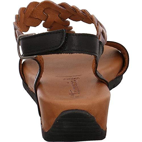 Tamaris 28231 1 Con Sandali 22 scarpe Estive touch Comb con sandali piatta confortevole Cinturini Black Il it Cinturino 1 Donna xXYrwX