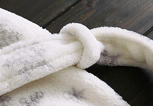 Hotel Bata De Baño Spa Pijama Hombre Larga Para Moda Blanco Manga Adultos Cuello Suave Y Mujer Pareja Ducha Franela 7SnwqZ8