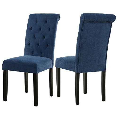 Buy Dining Room Chairs: LSSBOUGHT Stylish Dining Room Chairs With Solid Wood Legs