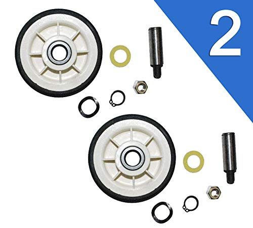 2 Pack Maytag Dryer Roller Wheel Drum Support Kit 303373K for 12001541 ()