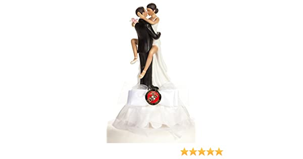 Amazon Military Sexy African American Wedding Cake Topper Air