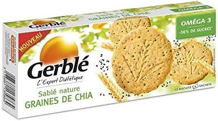 Gerblé - Pan Dulce Natural Con Semillas De Chia 132G - Sablé Nature Au Graines Chia 132G - Precio Por Unidad - Entrega Rápida