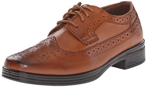 Brown Boys Shoes (Deer Stags Ace Dress Wing-Tip Oxford, Luggage, 5 M US Big Kid)