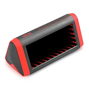 Wireless Bluetooth Speakers, WEGWANG Ukor 20W Loud Speakers with 5 Modes LED Lights Enhanced Bass/DSP Richer Stereo Sound with Mic IPX 5 Waterproof UP to 15 Hours Play for Car iPhone/Android Phone/MP3 by WEGWANG