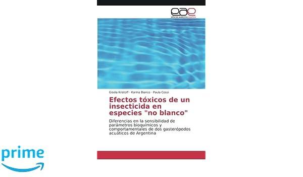 Efectos tóxicos de un insecticida en especies