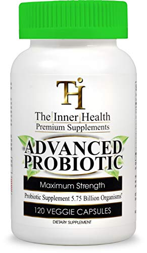 THE INNER HEALTH PROBIOTIC Supplement for Healthy Gut and Digestive & Immune Support 5.75 Billion Organisms-Bacillus Subtilis Bifidobacterium Longum L.Acidophilus L.Rhamnosus L.Plantarum-120 Capsules