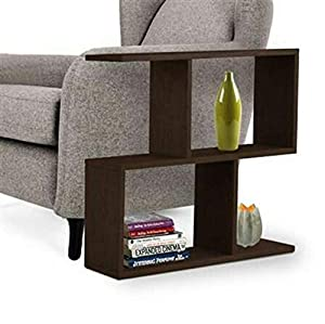 Delviraa Wood Bedside End Table Home Bedroom & Living Room Multipurpose Storage Laminated Wood Bedside Table-(Black)
