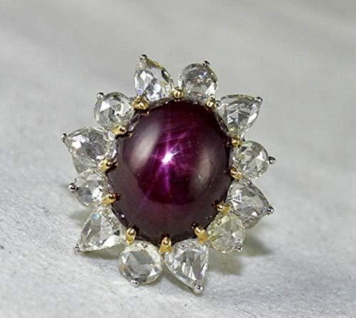 Crookston 1.12ct White Topaz Sapphire Woman Men 925 Silver Wedding Ring Gift Size 6-10 | Model RNG - 15369 | 10
