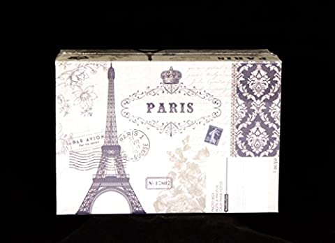 Recollections Paris Eiffel Tower Photo Album Memory Storage Box -4 3/8 x 7 7/8 x 11 3/8 … (Eiffel Tower Dvd Tower)