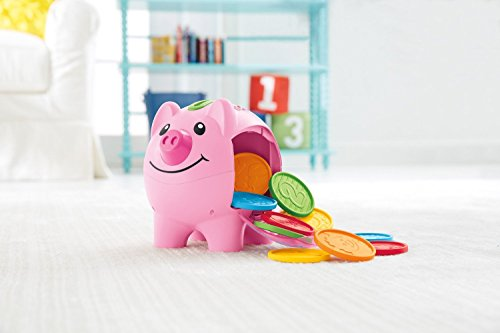 41sY fL1 oL - Fisher-Price Laugh & Learn Smart Stages Piggy Bank [Amazon Exclusive]