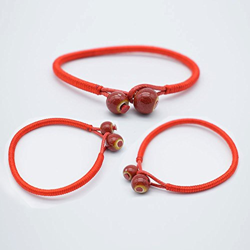 Red Rope Bracelet Lucky Friendship Bracelets, 10 Pack Handmade Braided String with Beads for Girls Weaved Friendship Bracelet