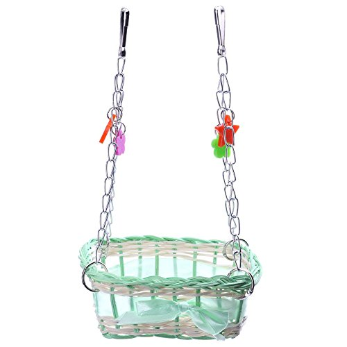 UEB Parrot Basket Swing Plait Birds Cages Toys Parrot Baskets